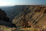 Sunlit fish river canyon