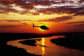 Victoria Falls Sunset Helicopter Flip