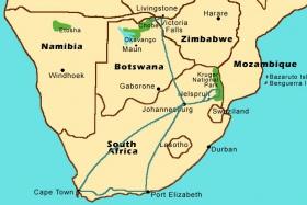 Signature Southern Africa Safari Map