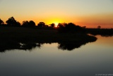 Sunset over Kwando river