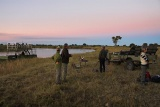 Sundowners at Kwando Lagoon