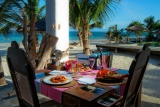 Dining at Waterlovers, Diani Beach, Kenya