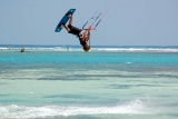 Kitesurfing at Waterlovers, Diani Beach, Kenya