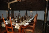 Mbweha camp dining