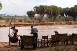 Elephant bedroom camp  river bank.