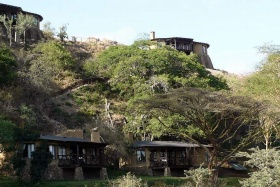 Built into a hillside,  the Emakoko, Nairobi, Kenya