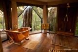 Mara plains camp bath with view