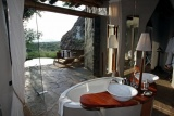 Ol donyo lodge, bathroom with a view