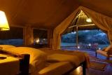 Tortilis Camp - double tent at dusk