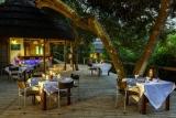 Dining deck at thonga beach lodge
