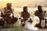 Zulu dancers at phinda rock lodge
