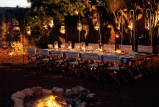 Alfresco dining at phinda zuka lodge