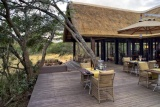 Dining deck at phinda vlei lodge