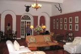 Victoria Falls Hotel's comfortable lounge area
