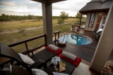 Private plunge pool and deck, jamala madikwe