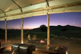 Desert rhino camp sunset oe