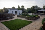 Tranquil gardens at africasky