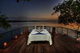 Xugana Island Lodge evening dining deck