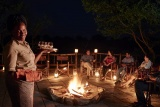 Boma evening at savute elephant camp