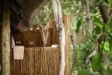 Outdoor shower at savute elephant camp