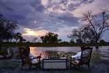 Khwai river lodge sunset drinks