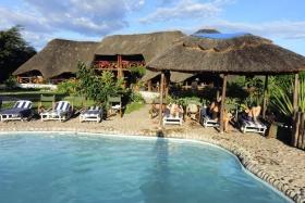 View from pool of Manyara Wildlife Camp