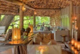 The lounge at Lake Manyara Tree Lodge