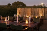 Shishangeni Private Game Lodge outdoor dining area in boma