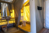 Kati kati tented camp bathroom