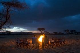 Kati Kati Tented Camp Evening Campfire