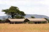 Serengeti kati kati - view of two tents