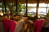 Rufiji River Camp, lounge with a view