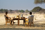 Champagne breakfast at Ruaha River Lodge
