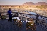 Drinks on the deck at Ruaha River Lodge
