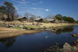 Tents on the river at Ruaha River Lodge