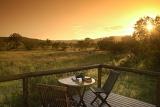Camp Shonga deck at sunset
