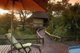 Camp Shonga pool area surrounded by African bushveld