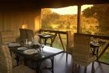 Camp Shonga dining area overlooking African bushveld