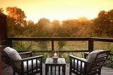 Hamiltons Tented Camp patio overlooking African bushveld