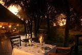 Hamiltons Tented Camp outdoor dining area