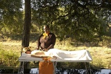 Hamiltons Tented Camp outdoor spa treatment