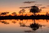 Kwando lebala sunset reflection