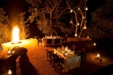 Little bush camp - evening dining