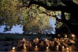 Deck dining at dusk, Ivory Lodge