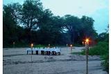 Rhino post riverbed dinner