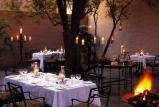 Ngala safari lodge courtyard dinner