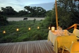 Ngala tented camp romantic dinner