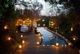 Pioneers camp romantic poolside