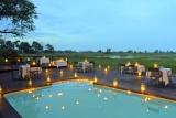 Nxabega okavango tented camp pool deck