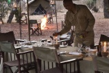 Dinner preparations at Chobe Under Canvas